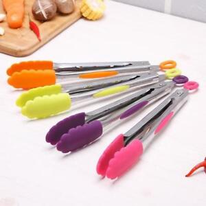 Silicone Cooking Tongs BBQ Steak Salad Serving Tongs Non stick Kitchen Tools