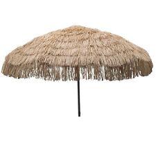 Whiskey Brown Palapa Tiki Hula Hawaiian 7.5 ft Patio or Beach Umbrella Tropical