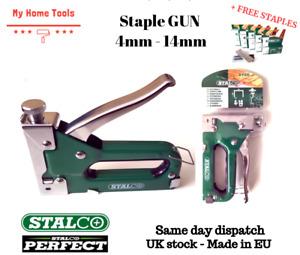 Heavy Duty Tacker Staple Gun 4-14mm Upholstery Stapler Staples+1000 FREE STAPLES