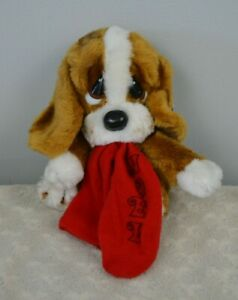 Applause Sad Sam Jr Puppy Dog Plush Stuffed Animal Red Noel Christmas Stocking