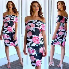 c08d81b01f9b Women Off Shoulder Dress Size 10 AU Floral Race Party Wedding Cocktails  Pink New