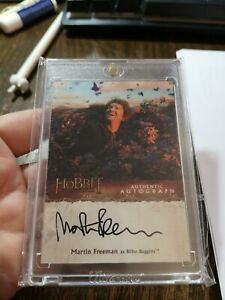 The Hobbit The Desolation of Smaug, Martin Freeman 'Bilbo' Autograph Card MF