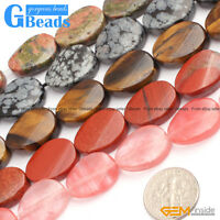 18x25mm Oval Twist Gemstone Beads For Jewelry Making Free Shipping Strand 15""