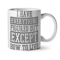 How To Live Joke Funny NEW White Tea Coffee Mug 11 oz | Wellcoda
