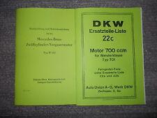 Beschr. Mercedes-Benz-12-Zylinder-Motor M148 & Ersatzteilliste DKW Motor 701