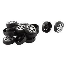 Plastic Roll 2mm Dia Shaft Car Truck Model Toys Wheel 30mmx9mm 20Pcs SH R4W F1D8