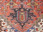 Antique Serapi Heriz rug 7.3 x10.3 carpet lovely colors very good condition