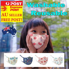 Kids Face Mouth Mask cartoon prints Girls Boys Protective Reusable Washable AU