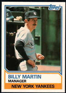 1983 Topps Traded #66T Billy Martin NM-MT Yankees MG