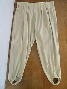 NWT Jacque & Koko Women's Pull-on Stirrup Pants Sz 26-28 Petite Plus Ivory Beige
