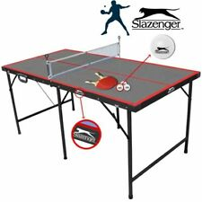 Tavolo Ping pong pieghevole con rete Racchette Palline Antiriflesso Slazenger