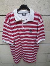 VINTAGE Polo ADIDAS rouge blanc trefoil shirt tennis années 90 F 6 D8 USA L