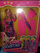 VERY RARE BEAUTIFUL GIFTSET BARBIE SUPERSTAR FASHION CHANGE ABOUT NRFB 1978