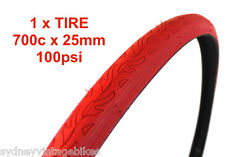 Innova BICYCLE TIRES 700 x 25c Road Bike Fixie FIXY TYRES Purple 100psi SYD RED
