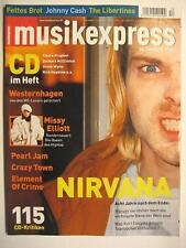 MUSIK EXPRESS SOUNDS 2002 # 12 - NIRVANA WESTERNHAGEN PEARL JAM ELEMENT OF CRIME