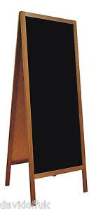 WOODEN BLACKBOARD CHALK BOARD A-BOARD PAVEMENT SIGN NEW XXL SIZE