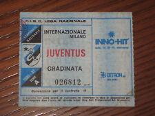 INTER JUVENTUS BIGLIETTO TICKET CALCIO 1980/81 SERIE A