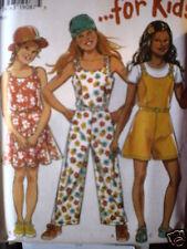 6519 Vintage NEW LOOK SEWING Pattern Girls Jumper Jumpsuit 7-12 FF OOP SEW FF
