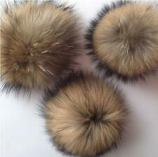 Fashion Brown Faux Fur Pom Pom DIY Car Handbag Keychain Fluffy Ball Pendant