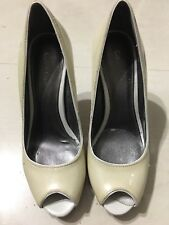 Calvin klein womens high hill shoes size 6M open toe green