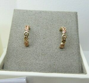 Clogau Gold 9ct Yellow & Rose Gold Tree of Life Hoop Earrings RRP £280