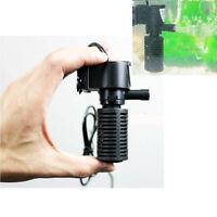 Ultra Silent Aquarium Oxygen Air Pump Filter High Energy For Fish Tank Pond