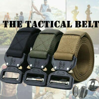 Outdoor Heavy Duty Military Tactical Belt Training Strap Quick-Release Buckle US