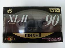 Maxell XL II 90 Audio Cassette Tape - Position High Type 2 Chrome - New / Sealed