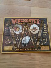 Winchester Bullet Board Repeating Arms Advertisement Nostalgic Tin Metal Sign