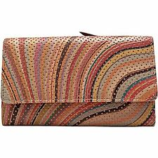 Paul Smith 3/4 wallet, 3/4 trifold perf swirll
