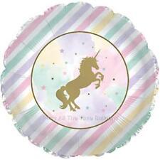 "SET of 2 17"" UNICORN SPARKLE NIP Magical Pegasus Balloons FREE SHIP"