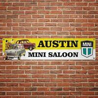 Austin Mini Banner Garage Workshop PVC Sign Trackside Display