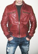 McQ by Alexander McQueen Burgundy Leather Jacket - Size 40US/50IT - $2,000+ MSRP