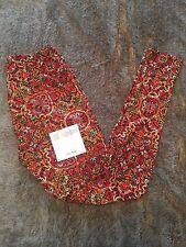 LulaRoe OS Kaleidoscope Floral Red Black Mint Legging, NWT