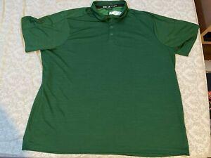 Adidas Men Green Golf Polo Shirt Athletic Stretch