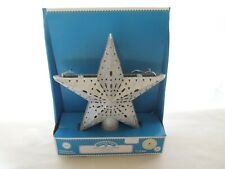 "Holiday Time Led Tree Topper Twinkling Star Warm White Lights 8 1/2"" Diameter"
