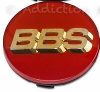 1x Genuine BBS Centre Cap, Red with Gold 3D BBS Logo 70.6mm - 56.24.120