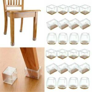 4PCS Silicone Chair Leg Caps Feet Pads Table Covers Anti-slip Floor Protect Pad