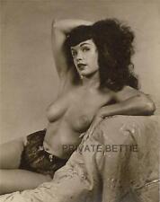 Bettie Page 8x10 B&W Nude Photo BP04 Betty