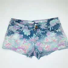 Mossimo Floral Faded distressed Denim Shorts