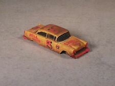 Ho Scale Orange & Red Rusted Out 1955 Chevy Stock Car # 5