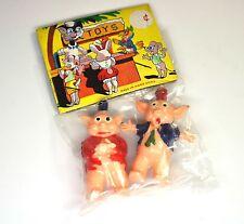 Vintage Piggy Figures Original Packaging 1960er Jahre Pig Glücksschweine Pigs