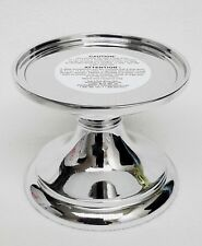 1 Bath & Body Works CHROME PEDESTAL 3-Wick 14.5 oz Candle Holder Decor