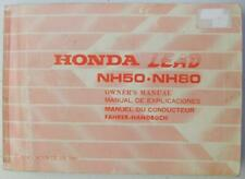 Honda Lead NH50 NH80 1982 36GC8600 Scooter Owners Handbook Multilingual