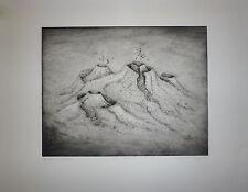Irmgard Sigg gravure originale signée art abstrait abstraction