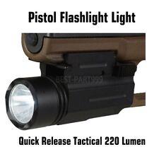 220 Lumen Tactical Pistol Flashlight with Quick Release Quick Detach Qd