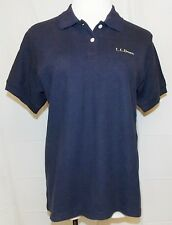 L.L. Bean Polo Shirt Navy Blue Short Sleeve Cotton Preppy Top Womens size Small