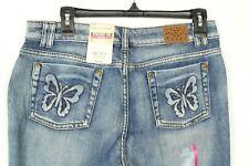 Arizona Women's Jeans Straight Leg Butterfly Pockets Denim Size 18.5 Plus