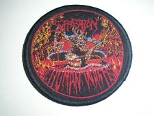 SUFFOCATION HUMAN WASTE WOVEN PATCH
