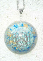 Orgone Orgonite pendant Merkaba, stones and crystals, emf protection, energy
